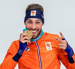 23-02-2018 KOR: Olympic Games day 14, PyeongChang<br /> 1000m Speedskating men / Kjeld Nuis schittert op 1.000 meter met tweede olympische titel