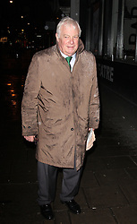LORD CHRIS PATTEN arrives for the opening night for the new musical A-Z Of Mrs P, London, United Kingdom. Monday, 24th February 2014. Picture by i-Images