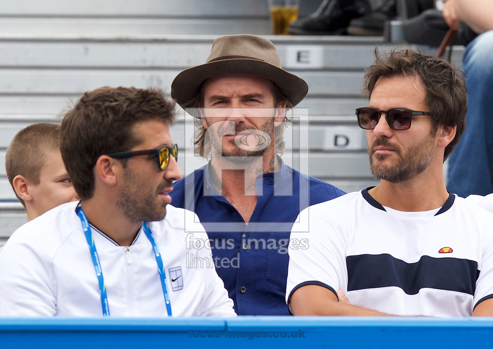 David Beckham on day four of the Aegon Championships 2017 held at The Queen's Club, Kensington, UK.<br /> Picture by Alan Stanford/Focus Images Ltd +44 7915 056117<br /> 22/06/2017