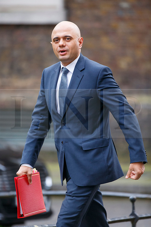 © Licensed to London News Pictures. 29/03/2017. London, UK. Communities Secretary SAJID JAVID attends a cabinet meeting in Downing Street, London on Wednesday, 29 March 2017 as Prime Minister Theresa May triggers article 50 and starts Britain's departure from the European Union. Photo credit: Tolga Akmen/LNP