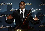 Dec 20, 2018; San Antonio, TX, USA; Men's 2017 winner Christian Coleman of Tennessee poses at the 10th Bowerman Awards at the JW Marriott San Antonio Hill Country Resort & Spa.