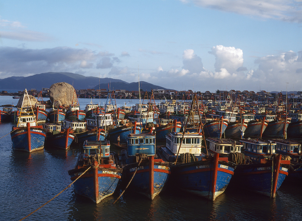 Fishing boats in Nha Trang harbor