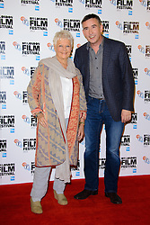 Dame Judi Dench and Steve Coogan at the Bfi Film Festival Photocall for 'Philomena' at Claridges Hotel. London, United Kingdom. Wednesday, 16th October 2013. Picture by Chris Joseph / i-Images