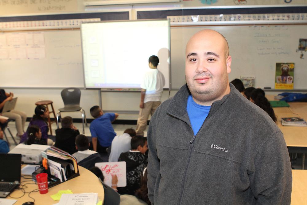 Teacher Rick Cruz at Moreno Elemenary.