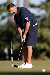 John Congemi warms up during the Chick-fil-A Peach Bowl Challenge at the Oconee Golf Course at Reynolds Plantation, Sunday, May 1, 2018, in Greensboro, Georgia. (Marvin Gentry via Abell Images for Chick-fil-A Peach Bowl Challenge)
