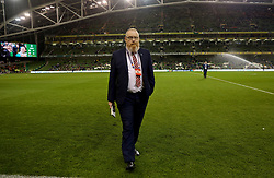 DUBLIN, IRELAND - Tuesday, October 16, 2018: Wales' head of international affairs Mark Evans before the UEFA Nations League Group Stage League B Group 4 match between Republic of Ireland and Wales at the Aviva Stadium. (Pic by David Rawcliffe/Propaganda)