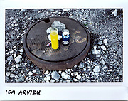 A memorial on a man hole cover for Ida Arvizu, 28-year-old, in the 4700 block of South Fairfield Avenue in Chicago in this photo taken September 17, 2017.  Arvizu, who was pregnant, and also has a 7 year-old daughter, was shot and killed with three other victims while sitting in a car on September 15, 2017.