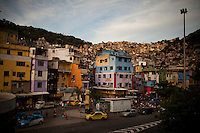 Rocinha, the biggest favela in Brazil, with over 100,000 residents, in Rio de Janeiro, Br., on Tuesday, Feb. 12, 2013. About 3,000 police officers and soldiers moved into one of the largest slums in Latin America early November 2011 in an effort by the Brazilian government to assert control over lawless areas of the city ahead of the 2014 World Cup and 2016 Summer Olympics.