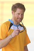 Prince Harry Darren Sammy cricket round St Lucia