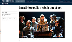 The Times; Local Hero theatre adaptation
