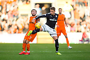 Dundee midfielder Scott Allan (#10) controls the ball in the air under pressure from Dundee United forward Paul McMullan (#7) during the Betfred Scottish Cup match between Dundee and Dundee United at Dens Park, Dundee, Scotland on 9 August 2017. Photo by Craig Doyle.