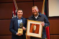 DEU, Deutschland, Germany, Berlin, 04.12.2017: Links Preisträger Michael Saitner (Segelschiff Thor Heyerdahl) bei der Willy-Brandt-Preisverleihung der Norwegisch-Deutschen Willy-Brandt-Stiftung.
