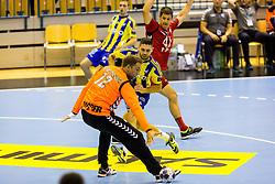 Blaz Janc of RK Celje Pivovarna Lasko during the handball match between RK Celje Pivovarna Lasko (SLO) and Prvo Plinarsko drustvo Zagreb (CRO) in 1st round, group B of EHF Champions League 2016/17 on September 24, 2016 in Arena Zlatorog, Celje, Slovenia. Photo by Ziga Zupan / Sportida
