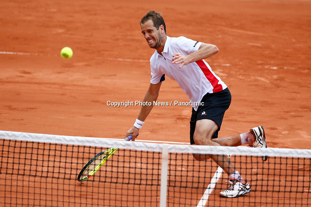 PARIS, FRANCE - MAY 29 :   Richard Gasquet (Fra) during the French Open of Roland-Garros , on May 29, 2017 in Paris