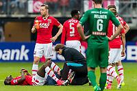 ALKMAAR - 01-04-2017, AZ - FC Groningen, AFAS Stadion, 0-0, blessure AZ speler Derrick Luckassen, blessure