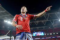 FUSSBALL  CHAMPIONS LEAGUE  SAISON 2012/2013  FINALE  Borussia Dortmund - FC Bayern Muenchen         25.05.2013 Champions League Sieger 2013 FC Bayern Muenchen: Arjen Robben (FC Bayern Muenchen) jubelt