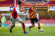 Bradford City forward Charlie Wyke (9) in action  during the EFL Sky Bet League 1 play off first leg match between Bradford City and Fleetwood Town at the Coral Windows Stadium, Bradford, England on 4 May 2017. Photo by Simon Davies.
