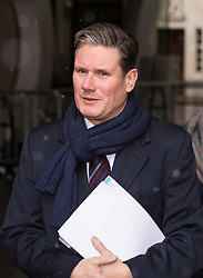 London, December 10 2017. Labour's shadow Brexit Secretay Keir Starmer leaves the BBC's Broadcasting House in London after appearing on the Andrew Marr Show © Paul Davey