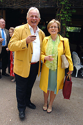CHRISTOPHER BIGGINS and JENNIFER SHARPE at a lunch party to celebrate the publication of David Conville's book The Park, held at Regent's Park Open Air Theatre, London o  6th June 2007.<br />