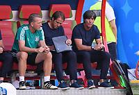 FUSSBALL WM 2018  Vorrunde  Gruppe F  ------- Suedkorea - Deutschland          27.06.2018 Torwart Trainer Andreas Kopeke, Co-Trainer Thomas Schneider und Trainer Joachim Loew (v.l., alle Deutschland)