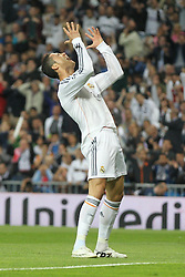 23.04.2014, Estadio Santiago Bernabeu, Madrid, ESP, UEFA CL, Real Madrid vs FC Bayern Muenchen, Halbfinale, Hinspiel, im Bild Cristiano Ronaldo (Real Madrid) // during the UEFA Champions League Round of 4, 1st Leg Match between Real Madrid vs FC Bayern Munich at the Estadio Santiago Bernabeu in Madrid, Spain on 2014/04/24. EXPA Pictures &copy; 2014, PhotoCredit: EXPA/ Eibner-Pressefoto/ Kolbert<br /> <br /> *****ATTENTION - OUT of GER*****