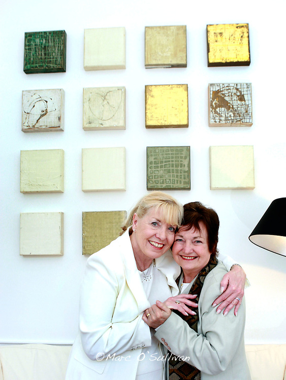 Nobel Laureates Betty Williams and Mairead Corrigan Pic:Marc O'Sullivan