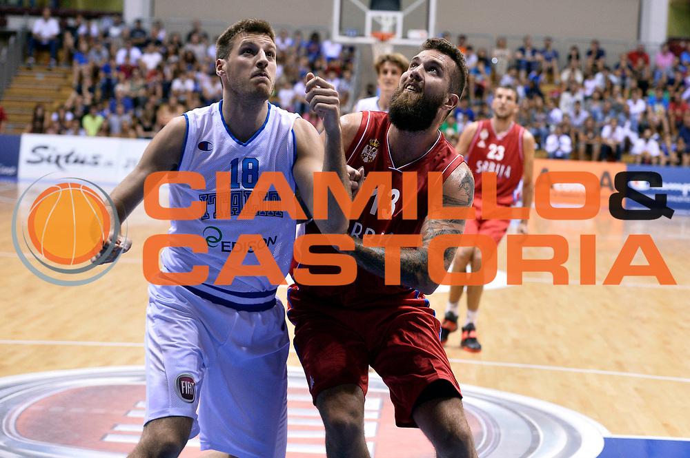 DESCRIZIONE : Trieste Nazionale Italia Uomini Torneo internazionale Italia Serbia Italy Serbia<br /> GIOCATORE : Miroslav Radulijca Daniele Magro<br /> CATEGORIA : Tagliafuori<br /> SQUADRA : Serbia Serbia Italia Italy<br /> EVENTO : Torneo Internazionale Trieste<br /> GARA : Italia Serbia Italy Serbia<br /> DATA : 05/08/2014<br /> SPORT : Pallacanestro<br /> AUTORE : Agenzia Ciamillo-Castoria/GiulioCiamillo<br /> Galleria : FIP Nazionali 2014<br /> Fotonotizia : Trieste Nazionale Italia Uomini Torneo internazionale Italia Serbia Italy Serbia