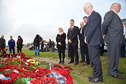 FLANDERS, BELGIUM - Monday, November 17, 2014: Wales police visit the war memorial to the Welsh soldiers at Flanders Field in Belgium. (Pic by David Rawcliffe/Propaganda)