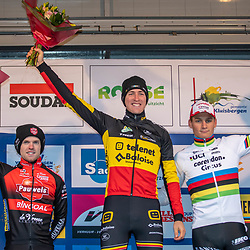 2019-12-14 Cycling: dvv verzekeringen trofee: Ronse: Toon Aerts wins the Hotondcross ahead of Eli Iserbyt and Wordchampion Mathieu van der Poel