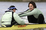 Putney, London, ENGLAND, 28.03.2006, 2006, Boat Race, Cambridge stroke, Kip McDaniel, reaches out for the catch, during cambridges mid day training out on the River Thames, in preparation for the Boat Race on April 2nd,  Varsity, Tideway Week, Tuesday,  © Peter Spurrier/Intersport-images.com.[Mandatory Credit Peter Spurrier/ Intersport Images] Varsity, Boat race. Rowing Course: River Thames, Championship course, Putney to Mortlake 4.25 Miles