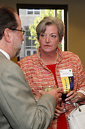 Kate Langevin of Compunet Clinical Laboratories (right) during the Better Business Bureau's Eclipse Integrity Awards dinner at Sinclair Community College's Ponitz Center in downtown Dayton, Tuesday, May 14 2013.