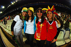 Supporters  during the soccer match of the 2009 Confederations Cup between Spain and South Africa played at the Freestate Stadium,Bloemfontein,South Africa on 20 June 2009.  Photo: Gerhard Steenkamp/Superimage Media.
