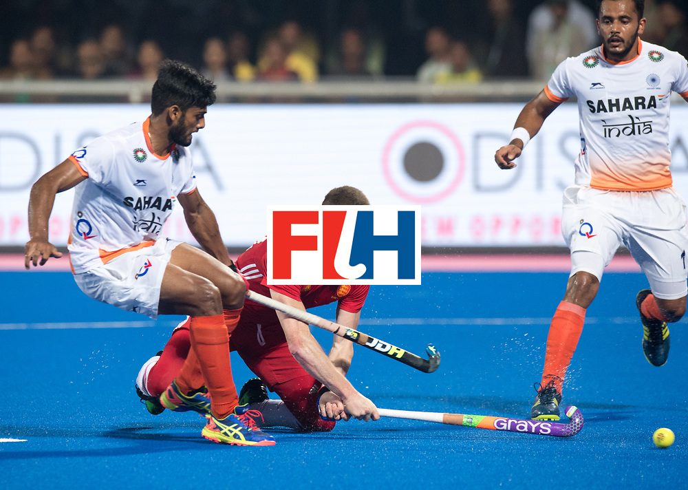 Odisha Men's Hockey World League Final Bhubaneswar 2017<br /> Match id:05<br /> 06 IND v ENG (Pool B)<br /> Foto: Sam Ward (Eng) scoort 2-3.<br /> WORLDSPORTPICS COPYRIGHT FRANK UIJLENBROEK