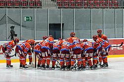 Team HK Acroni Jesenice during ice-hockey match between HK Acroni Jesenice and HDD Tilia Olimpija in fourth game of Final at Slovenian National League, on April 8, 2011 at Dvorana Podmezaklja, Jesenice, Slovenia. (Photo By Matic Klansek Velej / Sportida.com)