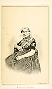 Portrait of a Dutch milkmaid in traditional clothes from Cattle and dairy farming. Published 1887 by Govt. Print. Off. in Washington. United States. Bureau of Foreign Commerce (1854-1903)