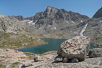 Jackson Peak seen from Indian Basin, Bridger Wilderness, Wind River Range Wyoming