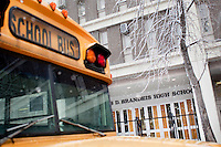 3 February, 2009. New York, NY. Brandeis High School will be closed by the City in order to have smaller high schools.<br /> <br /> ©2009 Gianni Cipriano for The New York Times<br /> cell. +1 646 465 2168 (USA)<br /> cell. +1 328 567 7923 (Italy)<br /> gianni@giannicipriano.com<br /> www.giannicipriano.com
