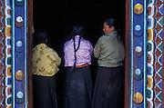 Nuns in prayer at Phodong Monastery, near Gangtok, Sikkim