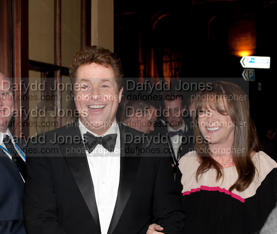 MICHAEL BALL; CATHY MCGOWAN, Post Olivier Awards Gala party. Waldorf Astoria. London. 13 March 2011. -DO NOT ARCHIVE-© Copyright Photograph by Dafydd Jones. 248 Clapham Rd. London SW9 0PZ. Tel 0207 820 0771. www.dafjones.com.
