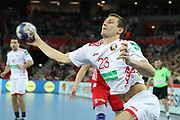 Andrey Yurynok (Belarus) during the EHF 2018 Men's European Championship, 2nd Round, Handball match between Croatia and Belarus on January 18, 2018 at the Arena in Zagreb, Croatia - Photo Laurent Lairys / ProSportsImages / DPPI