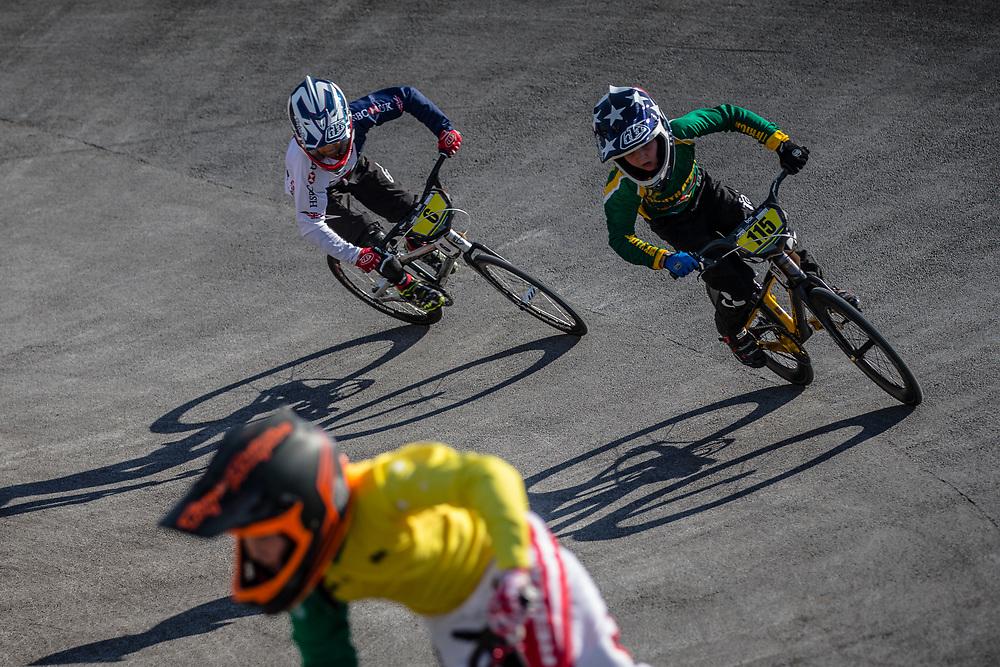 9 Boys #115 (POSTHUMUS Tyler) RSA at the 2018 UCI BMX World Championships in Baku, Azerbaijan.