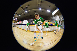 Miha Bencina of FBK Olimpija during warm-up before match for fifth place between Downtown Tigers (FIN) and FBK Olimpija (SLO)  in Floorball Slo Open 2012, on August 26, 2012 in Ljubljana, Slovenia.  (Photo by Matic Klansek Velej / Sportida.com)