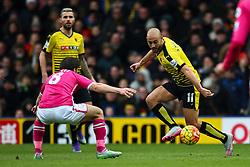 Nordin Amrabat of Watford passes the ball - Mandatory byline: Jason Brown/JMP - 27/02//2016 - FOOTBALL - Vicarage Road - Watford, England - Watford v Bournemouth - Barclays Premier League
