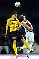 Onderwerp/Subject: VVV Venlo - Willem II - Eredivisie<br /> Reklame:  <br /> Club/Team/Country: <br /> Seizoen/Season: 2012/2013<br /> FOTO/PHOTO: Nils ROSELER (L) of VVV Venlo in duel with Kevin BRANDS (R) of Willem II. (Photo by PICS UNITED)<br /> <br /> Trefwoorden/Keywords: <br /> #04 $94 ±1342772867474<br /> Photo- & Copyrights © PICS UNITED <br /> P.O. Box 7164 - 5605 BE  EINDHOVEN (THE NETHERLANDS) <br /> Phone +31 (0)40 296 28 00 <br /> Fax +31 (0) 40 248 47 43 <br /> http://www.pics-united.com <br /> e-mail : sales@pics-united.com (If you would like to raise any issues regarding any aspects of products / service of PICS UNITED) or <br /> e-mail : sales@pics-united.com   <br /> <br /> ATTENTIE: <br /> Publicatie ook bij aanbieding door derden is slechts toegestaan na verkregen toestemming van Pics United. <br /> VOLLEDIGE NAAMSVERMELDING IS VERPLICHT! (© PICS UNITED/Naam Fotograaf, zie veld 4 van de bestandsinfo 'credits') <br /> ATTENTION:  <br /> © Pics United. Reproduction/publication of this photo by any parties is only permitted after authorisation is sought and obtained from  PICS UNITED- THE NETHERLANDS