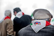 Rome apr 25th 2015, 70° anniversary of the liberation from nazism and fascism, demo in Piazzale Ostiense, the place were begin the Resistance in Rome. In the picture old partizans - ©PIERPAOLO SCAVUZZO