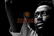 Gabriel Olaseni<br /> Red October Cantu' vs Banco di Sardegna Sassari<br /> Basket Serie A 2016/2017<br /> Milano 23/10/2016<br /> Foto Ciamillo-Castoria