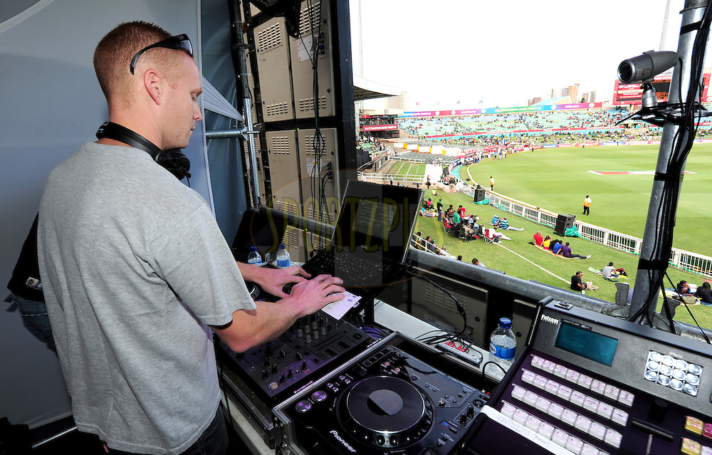 DJ Daniel during match 17 of the Karbonn Smart CLT20 South Africa between The Chennai Superkings and Yorkshire held at Kingsmead Park in Durban, South Africa on the 22nd October 2012..Photo by Gerhard Duraan/SPORTZPICS/CLT20