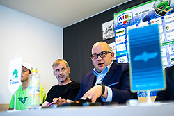 Head coach Ivo Jan and Miha Butara, president of HZ SZ Olimpija at press conference of HK SZ Olimpija before new season 2020-21, on June 22, 2020 in Hala Tivoli, Ljubljana, Slovenia. Photo by Matic Klansek Velej / Sportida