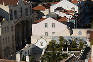 Portugal. Lisbon. elevated view on Alfama district San Vicente da Fora church area/ San vicente da fora quartier.  le quartier de l'alfama . Lisbonne