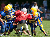 (Karen Bobotas/for the Laconia Daily Sun)Laconia Youth Football Jamboree Saturday,  August 20, 2011.